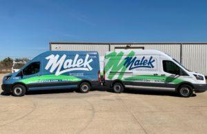 Malek Service Company Bryan/College Station, Texas - Service Trucks
